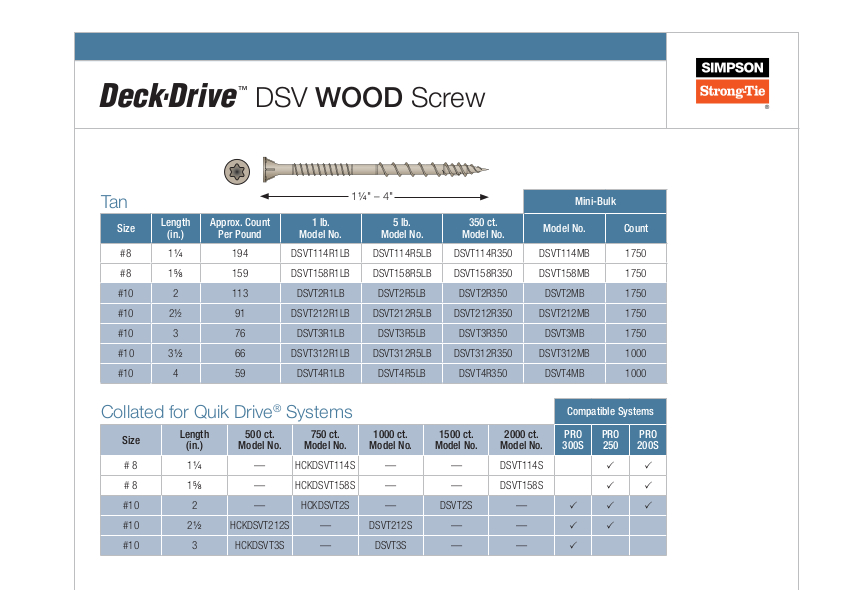 DSV wood screw2