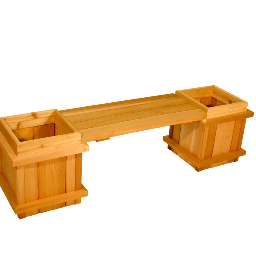 3 Piece Planter Bench Set