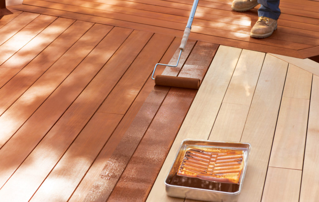 staining deck roller